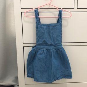 Blue Overall dress.